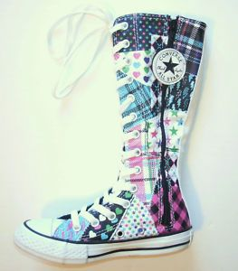 239ec2a9b483 CONVERSE~Chuck Taylor Knee High~PATCHWORK~Youth Size 11