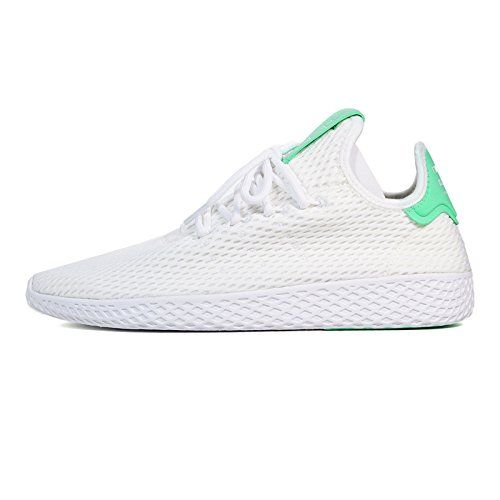 c424a0e6a3196 Adidas x Pharrell Williams Men Tennis Hu white footwear white green glow  Size 55 US        AMAZON BEST BUY     AdidasFashion