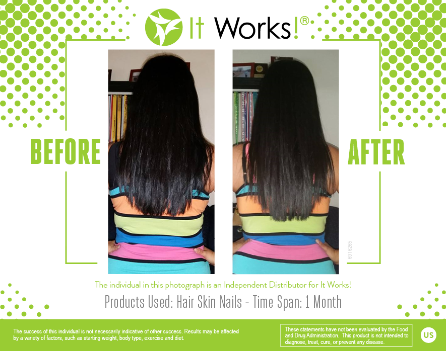 Great results in just ONE MONTH on It Works! Hair, Skin, Nails! | It ...