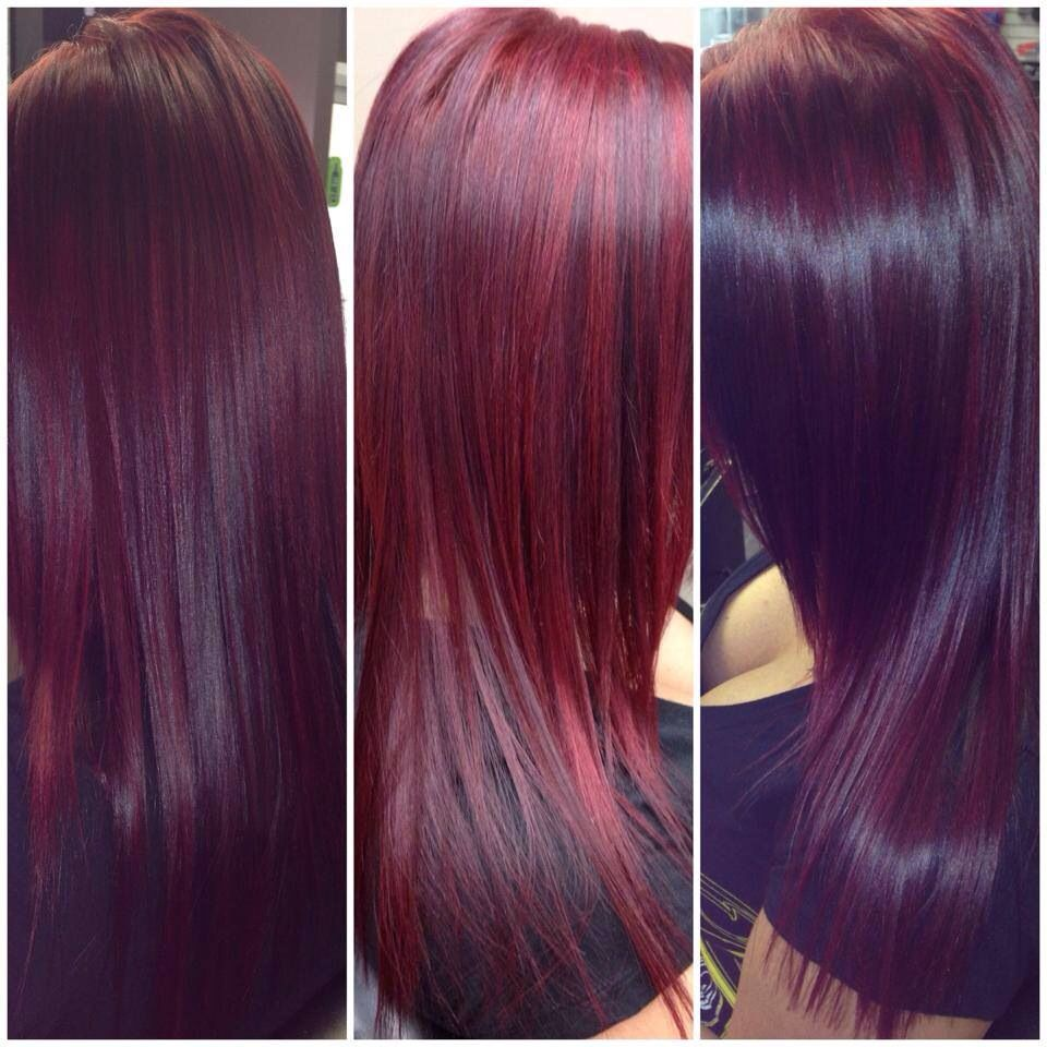 Red Violet Hair Using Schwarzkopf Color In 2019 Mulberry