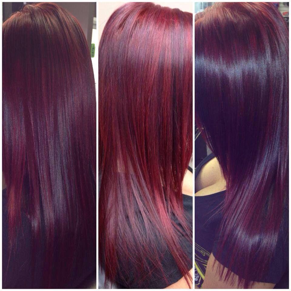 Coloring Hair Violet Red