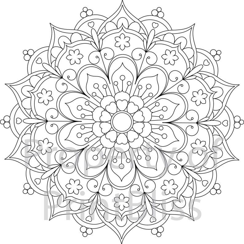 Abstract Mandala Advanced Coloring Page For Adults This Free Coloring Page Is Available For Inst Mandala Coloring Pages Abstract Coloring Pages Coloring Pages