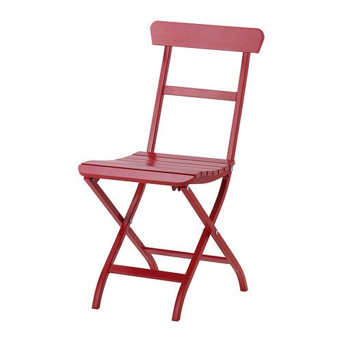 IKEA   MÄLARÖ, Folding Chair, Red, Perfect For Your Balcony Or Other Small.  Outdoor ...