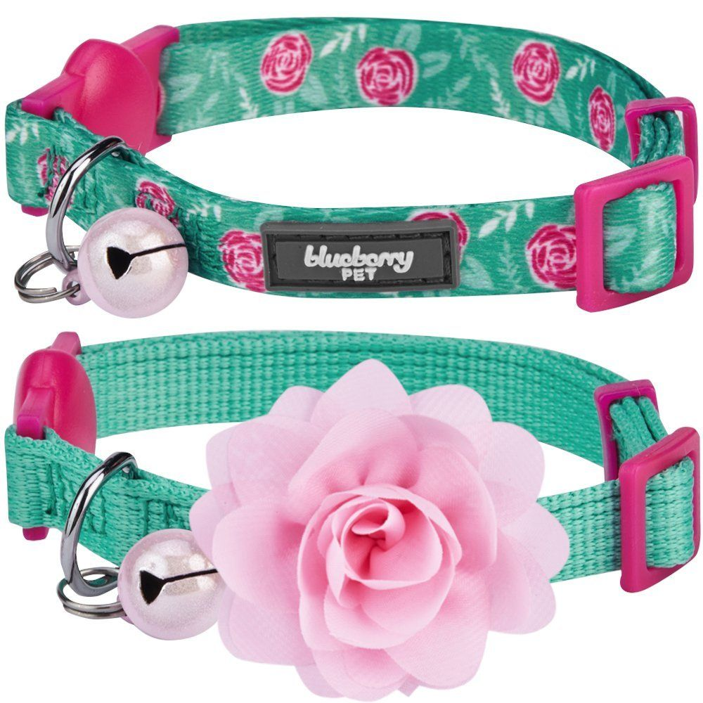 Blueberry Pet Multiple Designs Pack Of 2 Valentine Gift Cat Collars The Power Of All In One Adjustable Breakaway Small Breakaway Cat Collars Cat Collars Pets