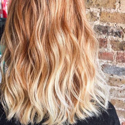Strawberry Blonde Balayage Beauty Blogger Emily Lavinia Ace Boogie Blonde Balayage Short Hair Balayage Baliage Hair