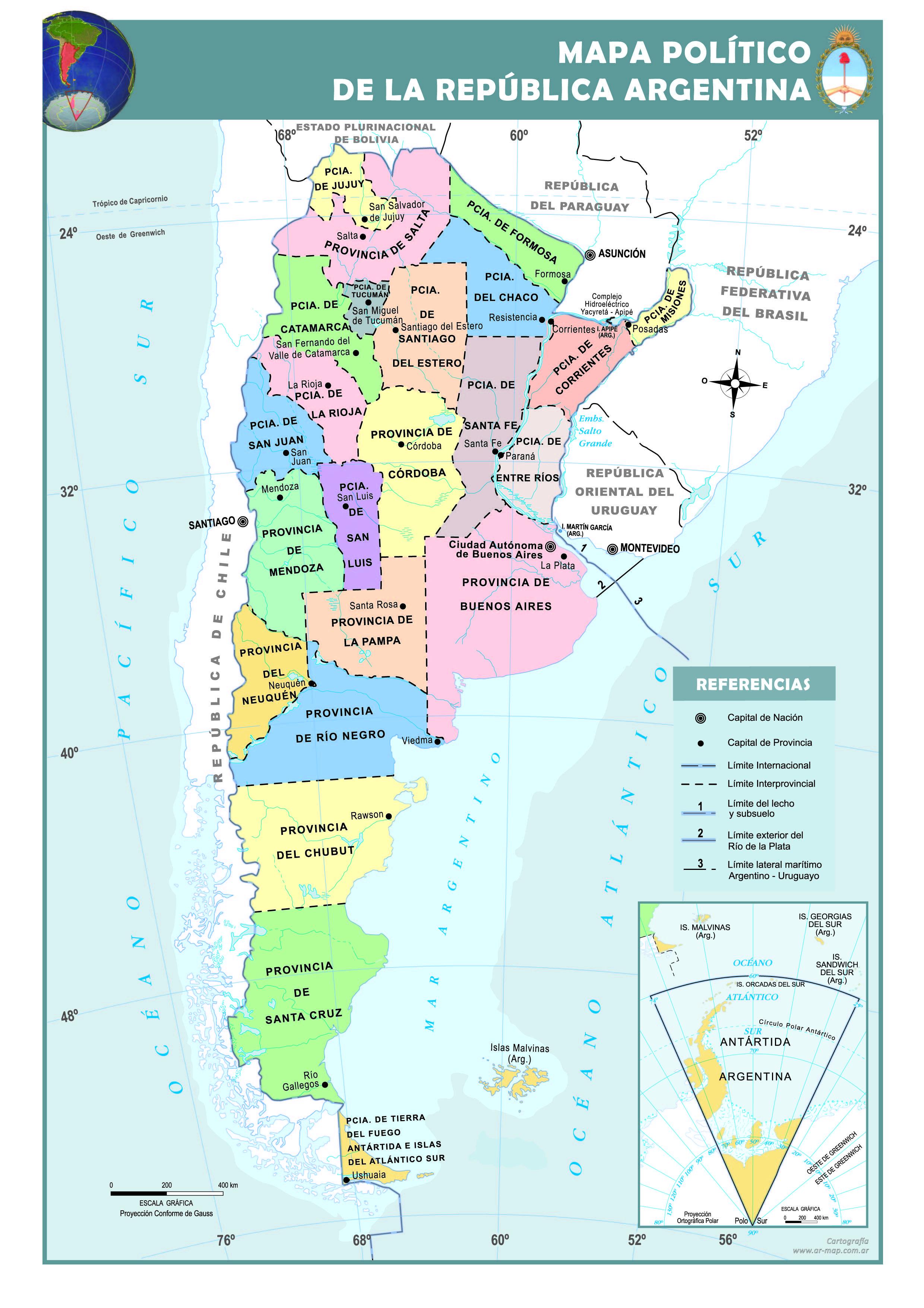 Mapa poltico de la argentina mapas pinterest argentina mapa poltico de la argentina gumiabroncs Choice Image