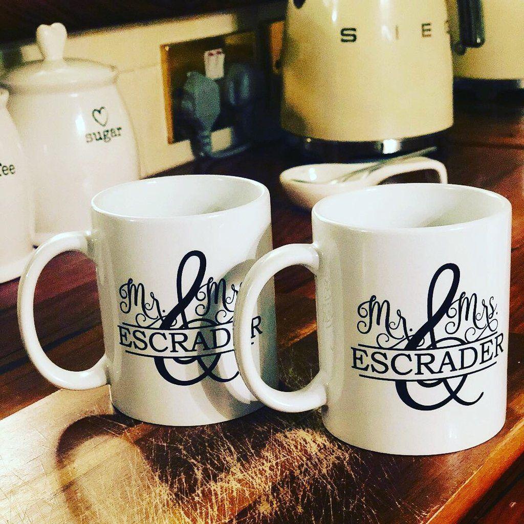 Mr mrs monogram mug set mugs set mugs gift set