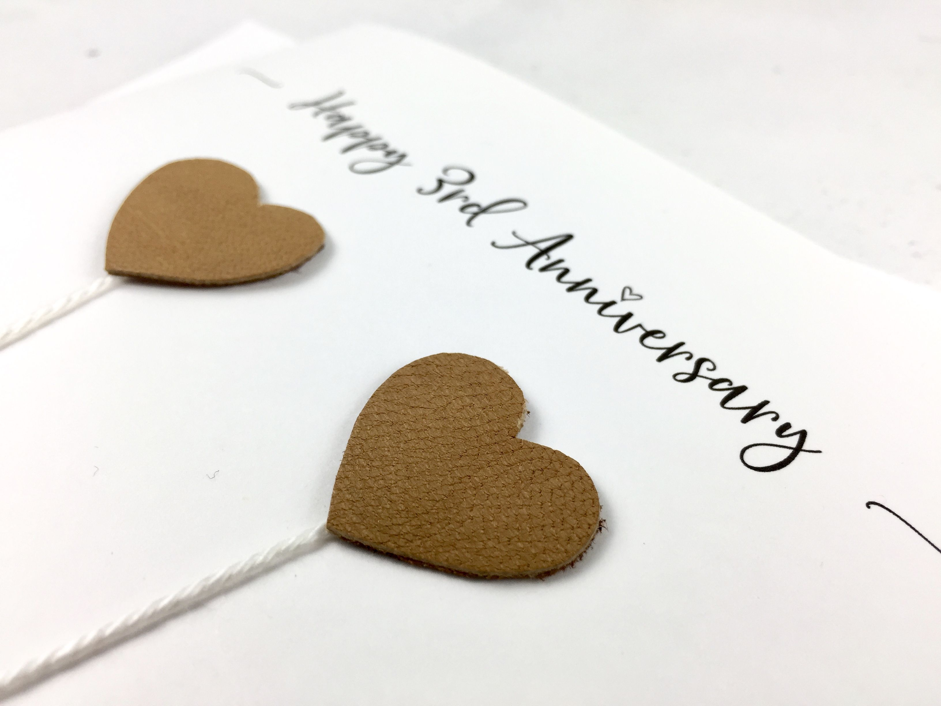 3rd anniversary card  leather wedding anniversary