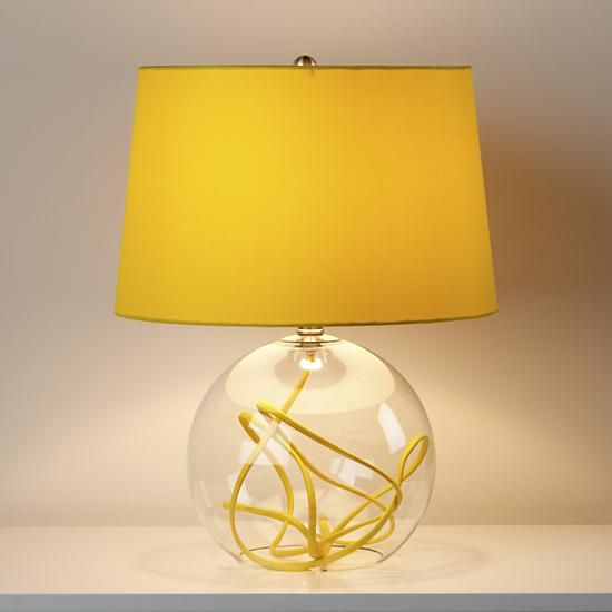 the land of nod yellow crystal ball table lamp thank you elizabeth. Black Bedroom Furniture Sets. Home Design Ideas
