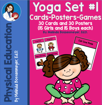 yoga cards posters and games set 1  yoga cards card