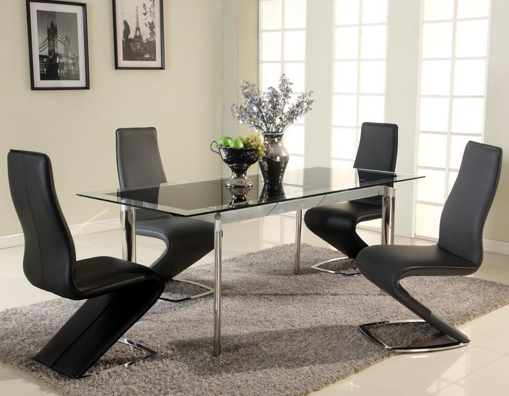 Best Extendable Glass Top Designer Modern Dining Room 640 x 480