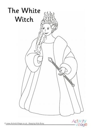 White Witch Colouring Page Witch Coloring Pages Lion Coloring