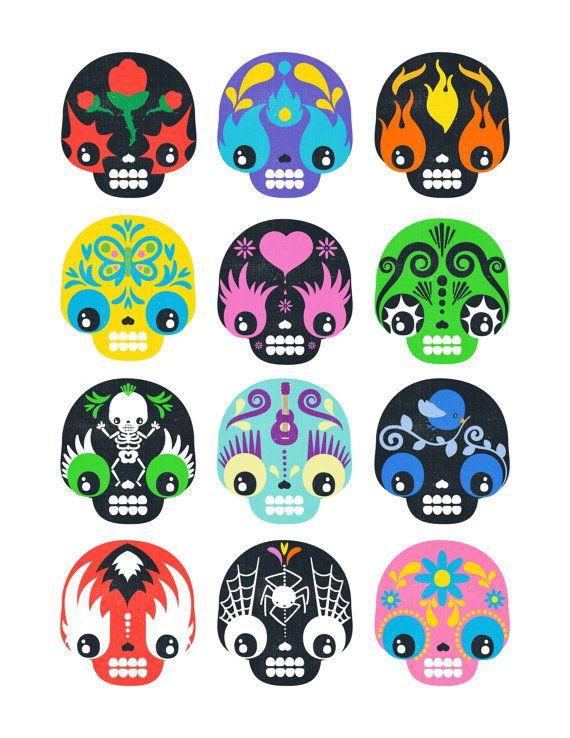 Dia De Los Muertos Art Print Day Of The Dead