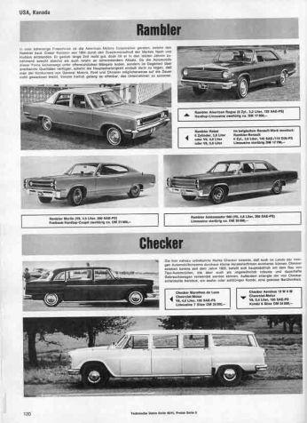 Folha de uma revista de carros antigos dos EUA.