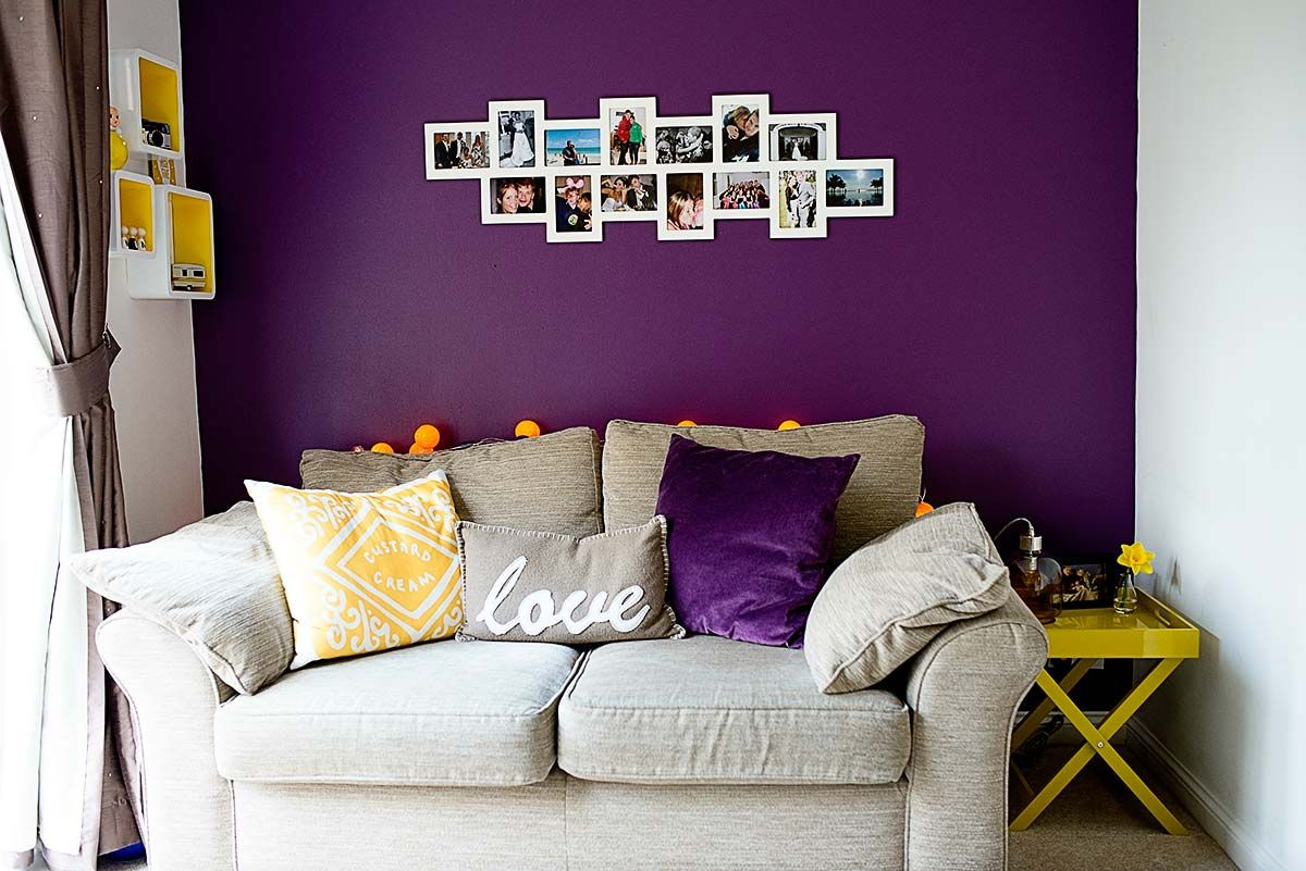 Some Updates To Our Mustard Purple Living Room Purple Living Room White Walls Living Room Purple Living Room Furniture #purple #and #white #living #room #ideas