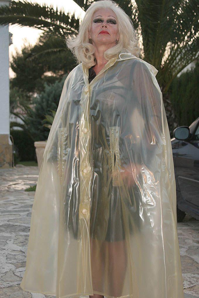 Vinyl Cape Google Zoeken Plastic Raincoat Plastic Mac