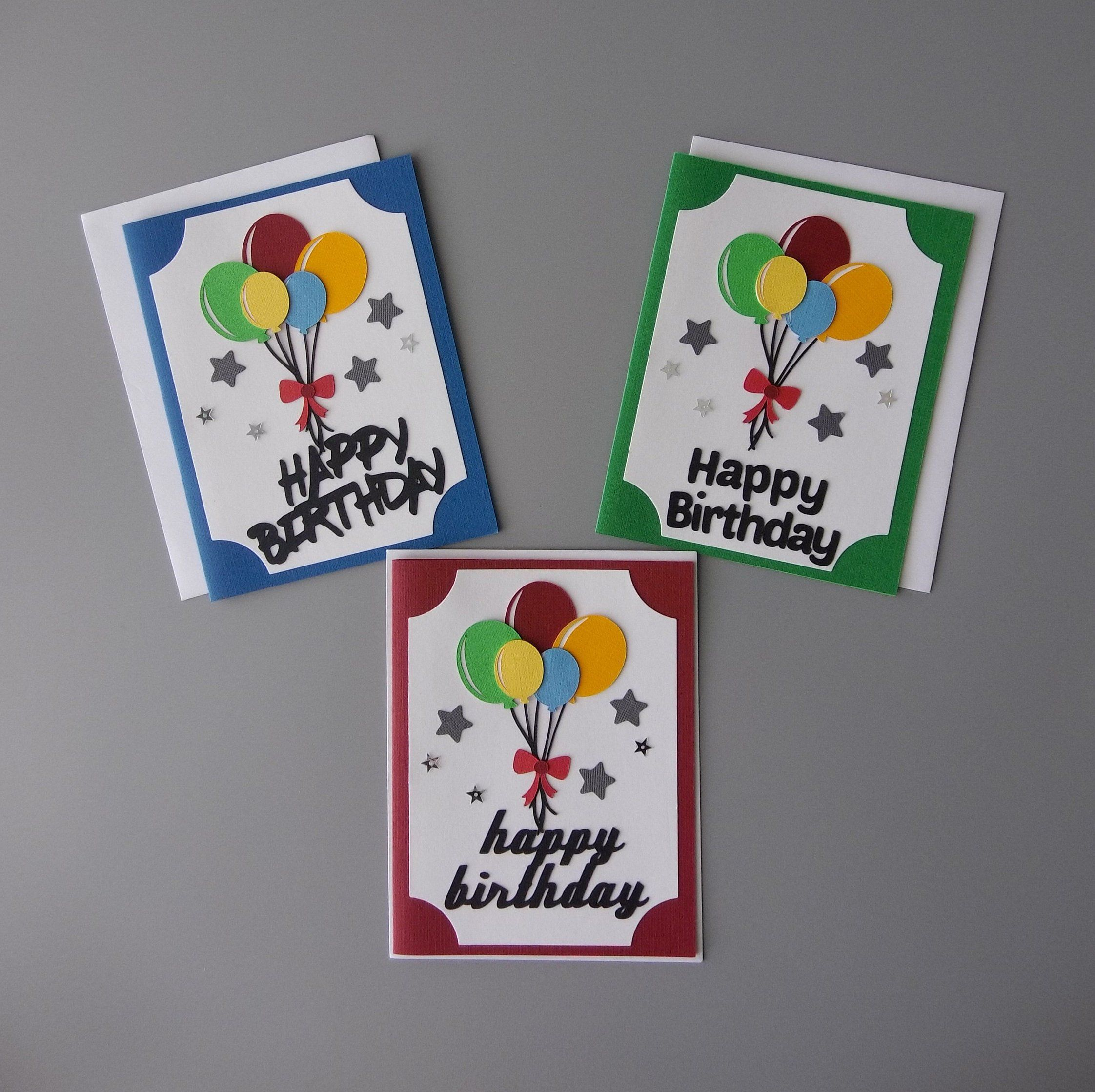 Birthday card with balloons set friend birthday card
