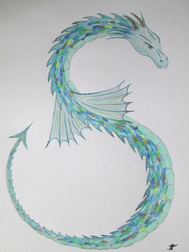 Sea Dragon Drawing : dragon, drawing, Dragon, Mounted, Pencil, Drawing, Accompanying, Dragon,, Drawing,, Drawings