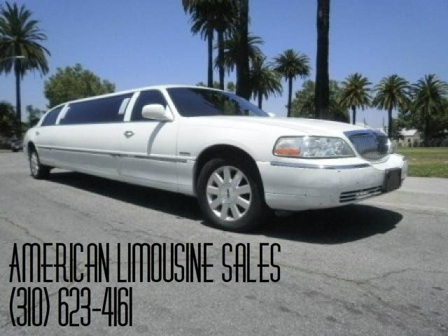 2003 LINCOLN Towncar White 100-inch 8 Pass. Limousine #889 - $19995   Visit our website at: Americanlimousinesales.com
