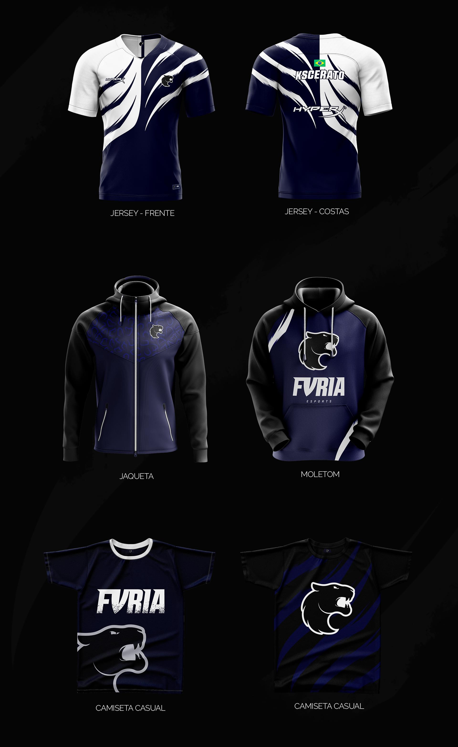 Download Furia Esports On Behance Sport Shirt Design Sports Uniform Design Team Shirt Designs
