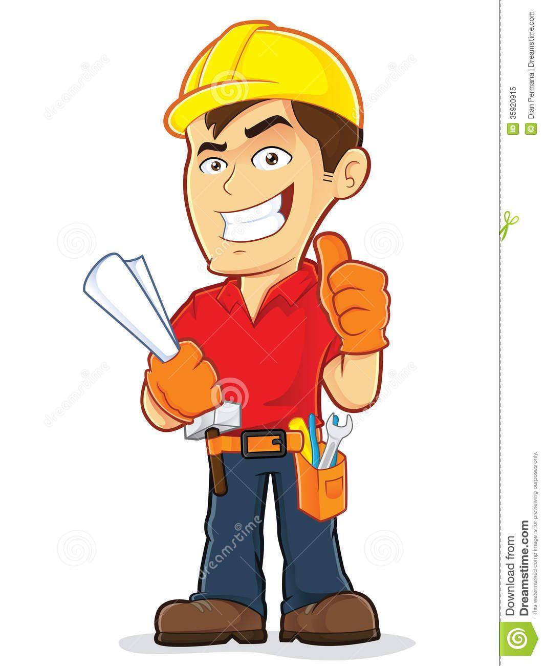 Construction Man Clipart Clipart Engineer Cartoon Construction Worker Cartoon Characters