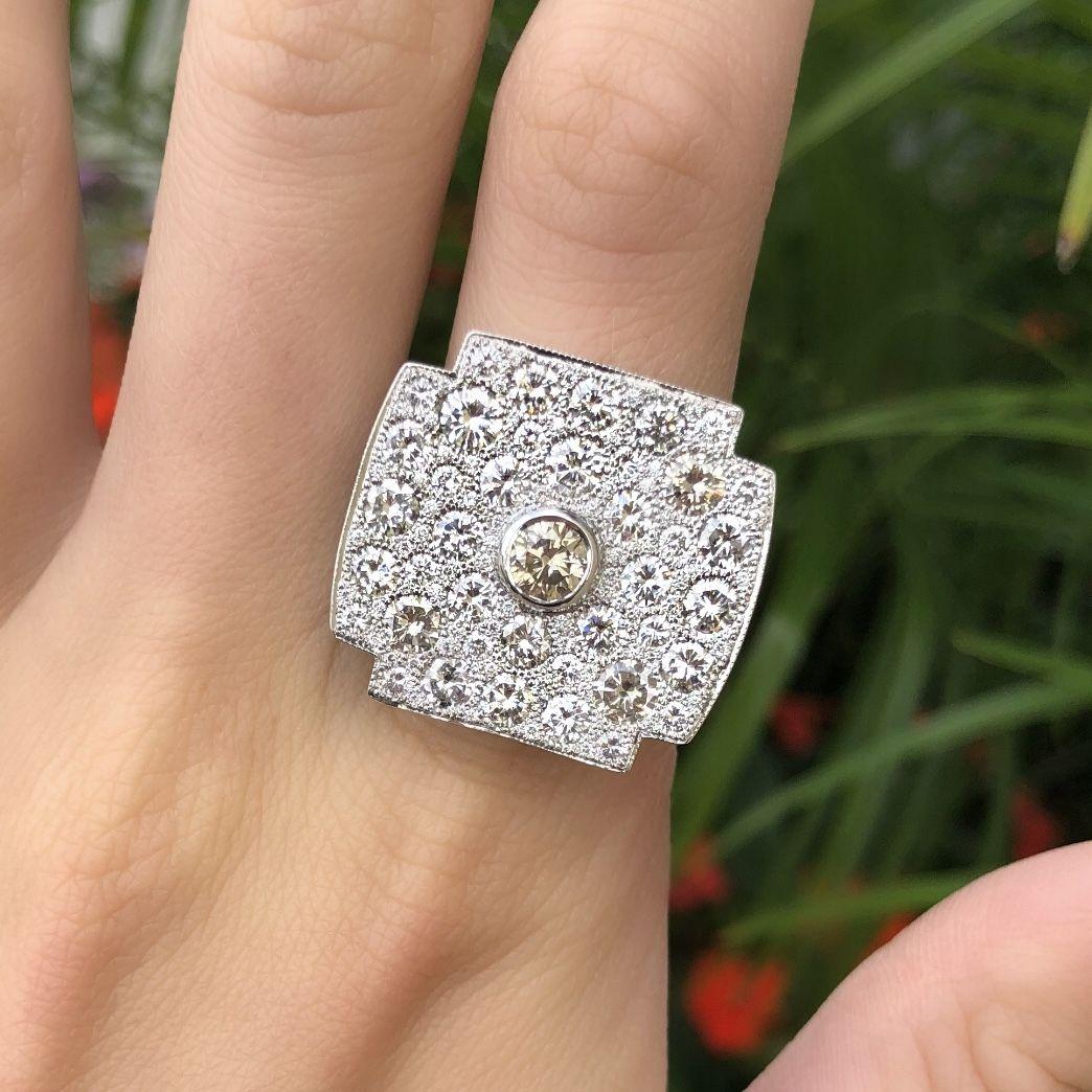 Engagement Rings Kansas City: Large Diamond Fashion Statement Ring. Annual Summer