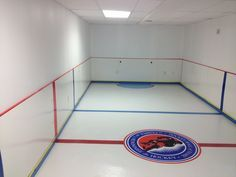 Bardown The Best Mini Hockey Rinks In People S Basements Hockey Room Hockey Rink Finishing Basement