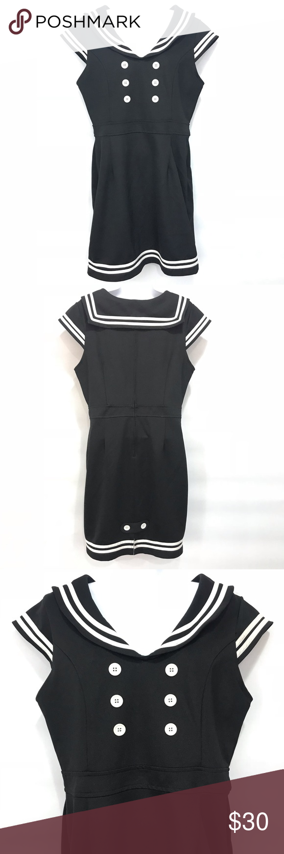 HELL BUNNY Vixen Sailor Cos Play Costume Emo Dress #emodresses I just added this listing on Poshmark: HELL BUNNY Vixen Sailor Cos Play Costume Emo Dress. #shopmycloset #poshmark #fashion #shopping #style #forsale #Hell Bunny #Dresses & Skirts #emodresses