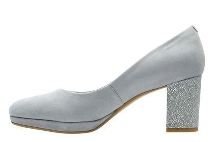 7c2b18d7a87e Clarks Kelda Hope - Grey Blue Suede - Womens Smart Shoes