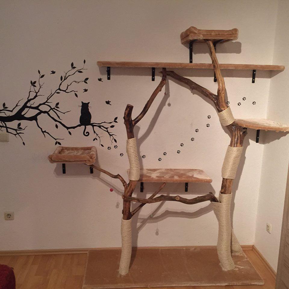 katzenbaum aus baumstamm kaufen wohn design. Black Bedroom Furniture Sets. Home Design Ideas