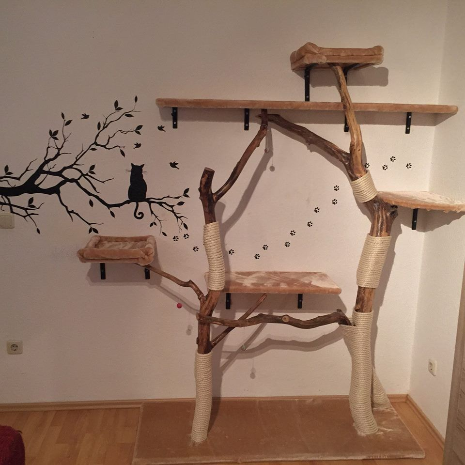 kratzbaum selber bauen1 katzen pinterest cat diy cat scratching post and cat scratching post. Black Bedroom Furniture Sets. Home Design Ideas