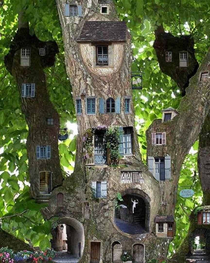 Bon Miniature Fairy Garden Tree House Gnome Garden, Fairy Garden Houses, Fairy  Tree Houses,