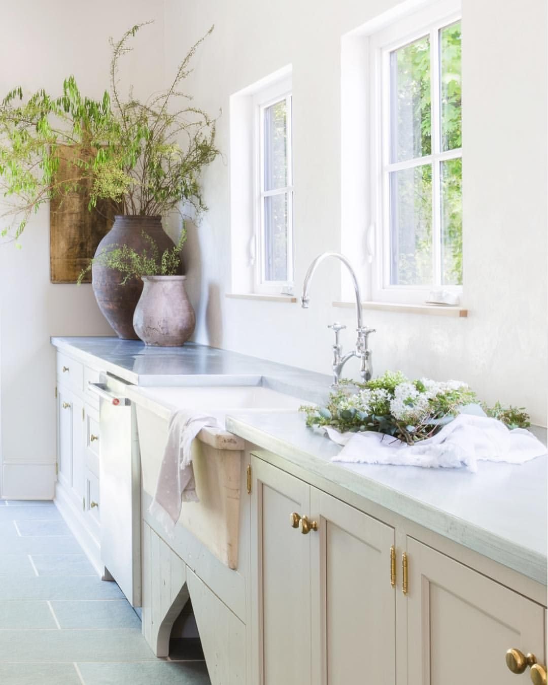 European Style Kitchen Remodeling Ideas: European Inspired Kitchen Or Laundry Room With Ivory
