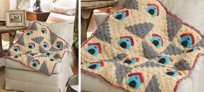 Dog Home Crocheted Throw [FREE Crochet Pattern] | Afghans, Blankets ...