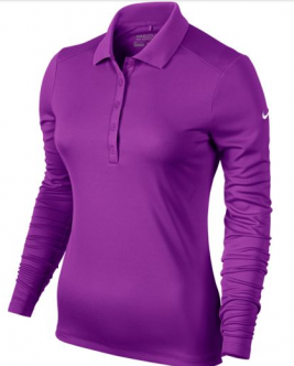 Polo Nike golf Victory para mujeres. Polo Nike Golf clásico para mujeres, de manga larga y con cuello de varios botones.