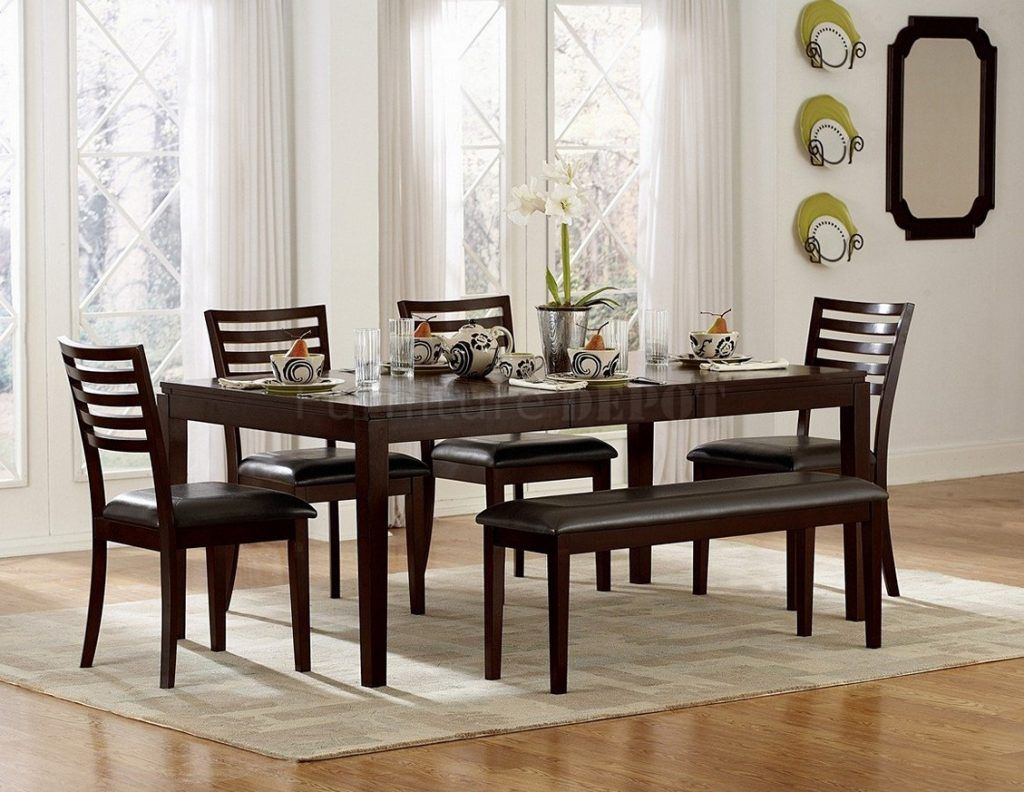 Dining Table Set With Bench Photo Of Dining Room Table Sets With Bench