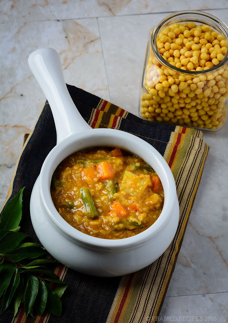 Bisi Bele Bath is a traditional breakfast dish from the
