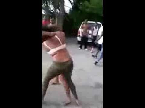Black females fighting in the hood