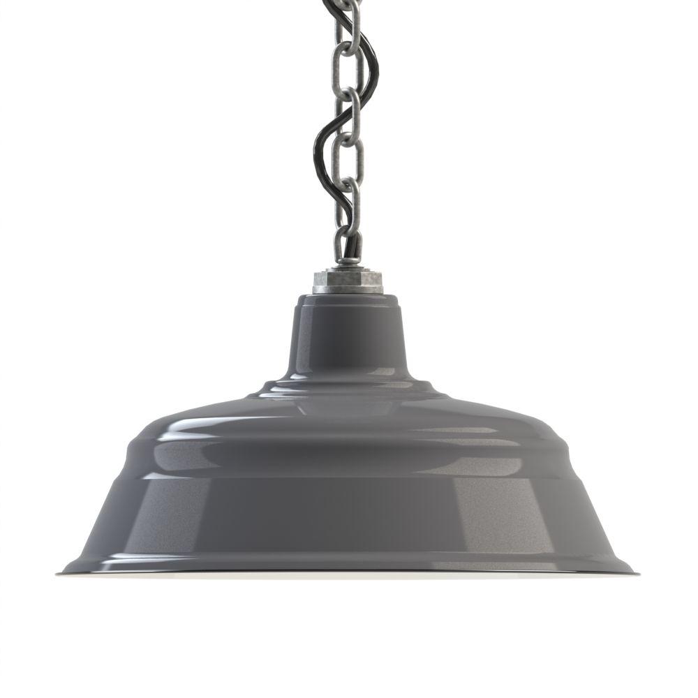 Steber Er Chain Hung Pendant Light Grey Lighting