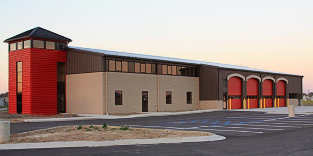 Roanoke Indiana Fire Station Metal Building Building