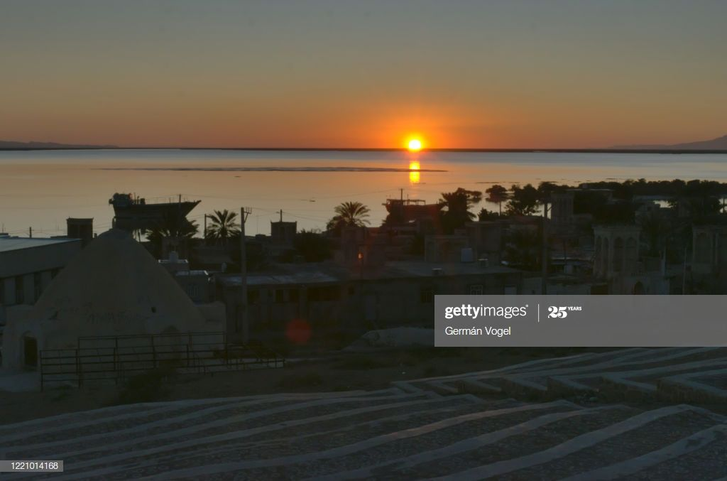 Peaceful Sunset In Bandarelaft Village Of Qeshm Island Persian Gulf Iran Photogr #Ad, , #Affiliate, #Village, #Qeshm, #Bandarelaft, #Peaceful