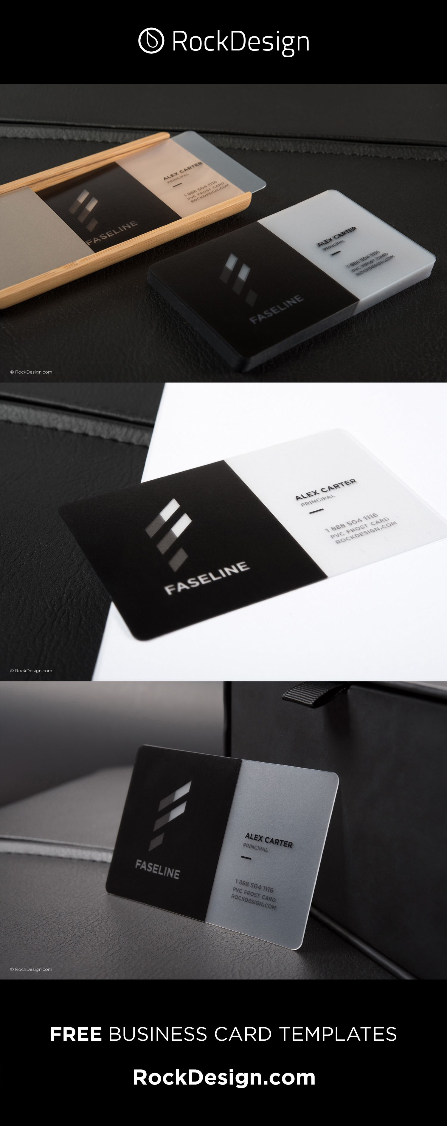Modern Simplistic Frost Pvc Business Card Faseline Transparent Business Cards Printing Business Cards Credit Card Design