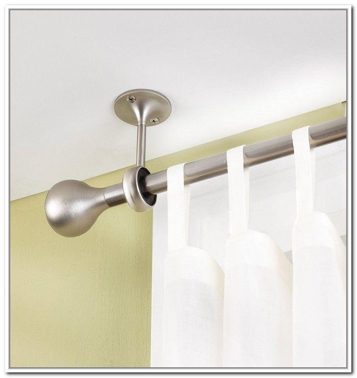 Ceiling Mount Curtain Rod Brackets Nda Interior Design