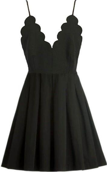 663484c539 Scalloped little black dress love! | Playing dress up | Mini skater ...