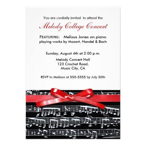 elegant classic music concert recital invitation recital