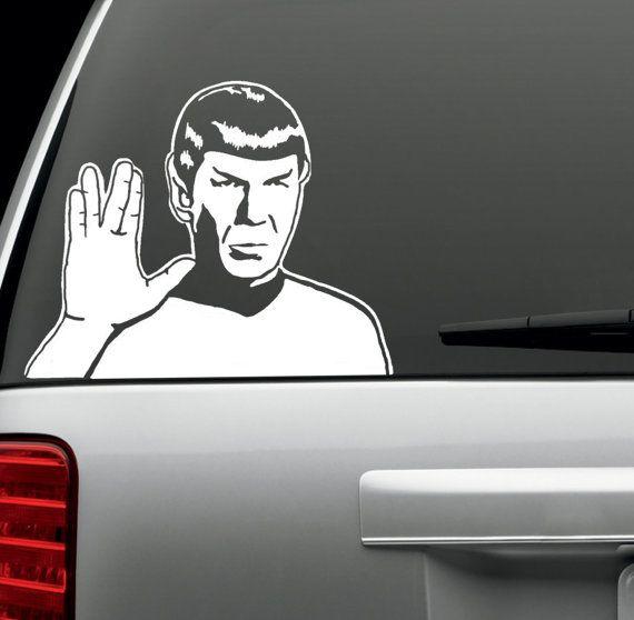 Spock star trek vinyl die cut decal sticker by 5stardecal on etsy 3 99