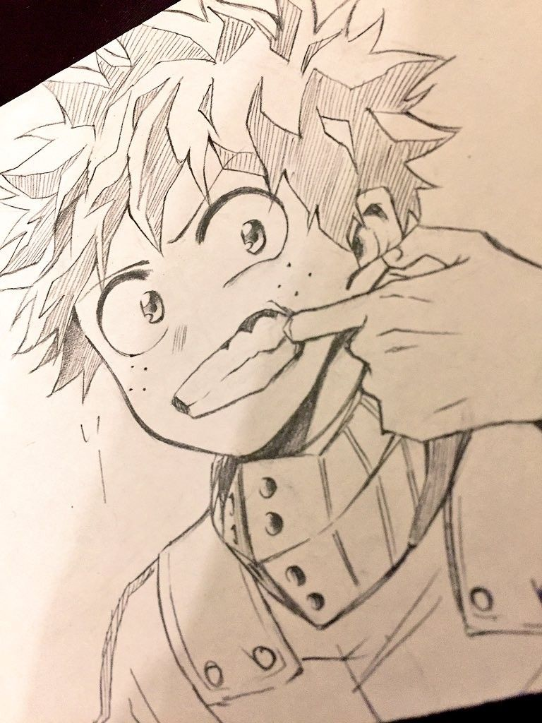 My Hero Academia Bnha Izuku Midoriya Deku Anime Character Drawing Anime Sketch Anime Drawings Sketches