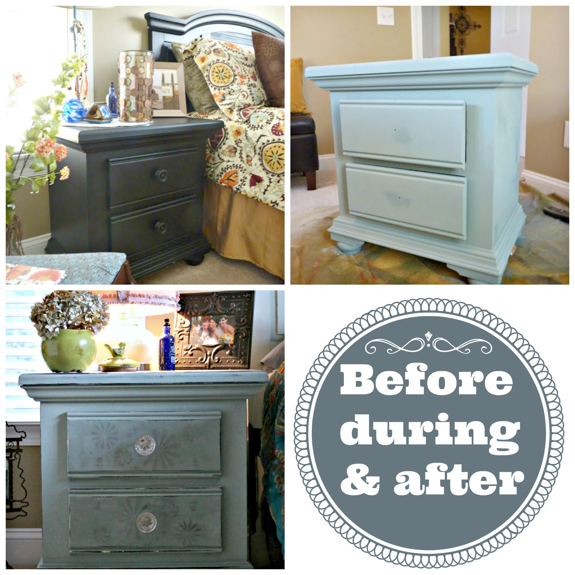 Dark Blue Chalk Paint Kitchen Cabinets: Black Furniture Painted Duck Egg Blue With Annie Sloan