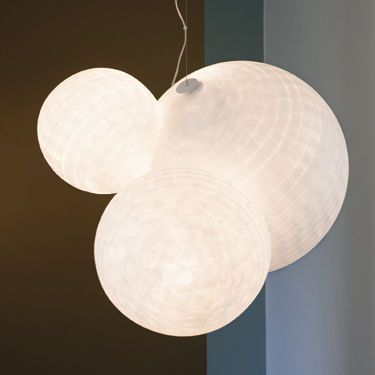 Lampe suspension contemporaine en papier japonais H2O GM CéLINE