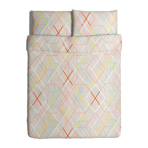 ikea ps 2014 housse de couette et taie s deux places grand deux places ikea tableau de. Black Bedroom Furniture Sets. Home Design Ideas